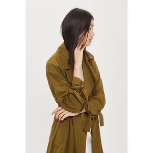 TOPSHOP Duster Coat (Olive) Size 6 (US)
